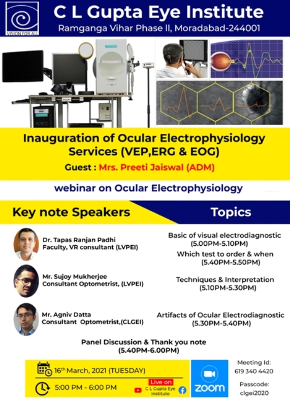Inauguration Of Ocular Electrophysiology Services And Webinar.